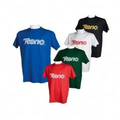T-shirt em Algodão RENO (Preto com Reno Amarelo)