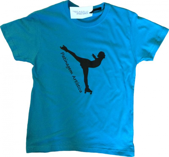 T-shirt em Algodão com patinadora